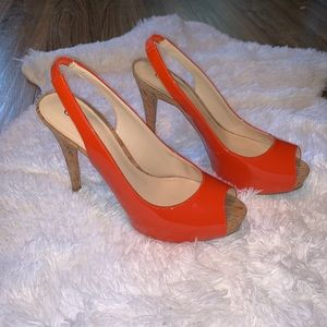 Guess Shoes - Orange Guess Peep Toe Pumps